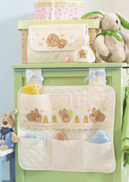 Made with Love - Cute Bunny Baby Pounch and Changing Mat in Anchor - Downloadable PDF