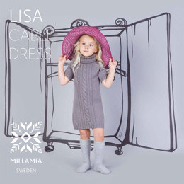"""Lisa Cable Dress"" - Dress Knitting Pattern in MillaMia Naturally Soft Merino"