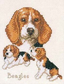 Pako Beagles Cross Stitch Kit - 13cm x 17cm