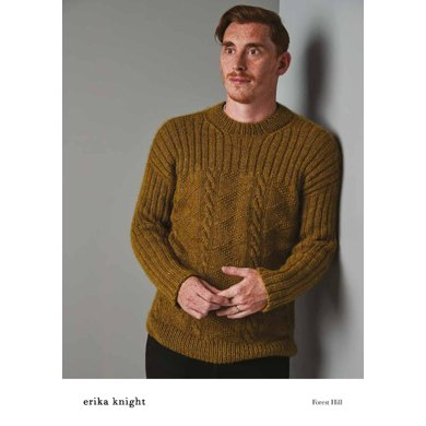 Forest Hill Sweater in Erika Knight Wild Wool - 72001103 - Downloadable PDF