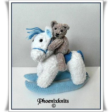 Rocking horse and Ted