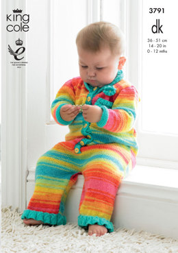 Baby Set in King Cole DK - 3791