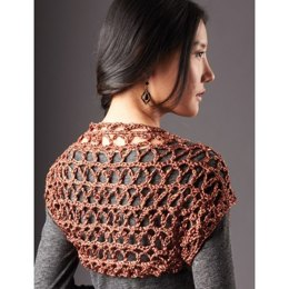 Touch of Shine Shrug in Patons Metallic