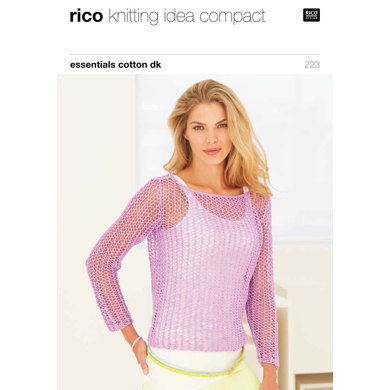 Lacy Sweaters in Rico Essentials Cotton DK - 223