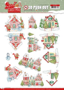 Find It Trading Yvonne Creations Punchout Sheet - Sweet Houses, Sweet Christmas