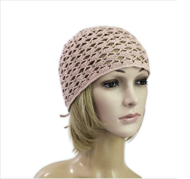 Lacy hat with adjustable strap