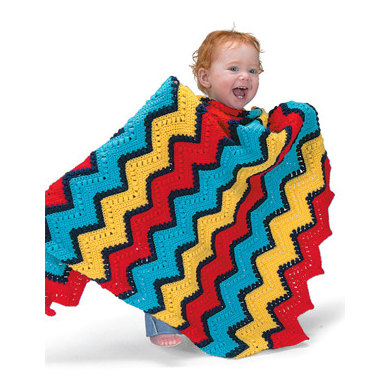 The Ripple Effect Baby Blanket in Lion Brand Babysoft - 1208A