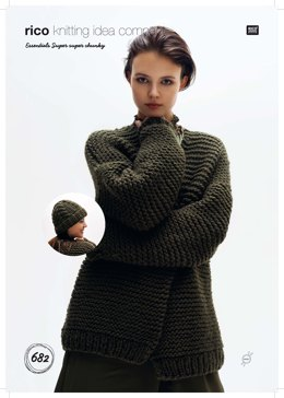 417c80e1124f Cardigan and Hat in Rico Essentials Super Super Chunky - 682 - Leaflet