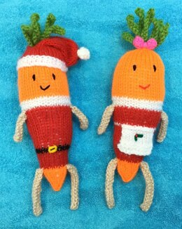 Kevin and Katie the Carrot Christmas Soft Toys