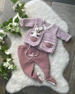 Crochet Pramsuit and Mouse