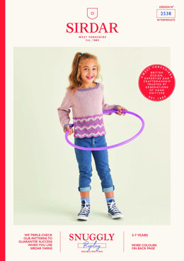 Children's Sweater in Sirdar Snuggly Replay DK - 2538 - Leaflet