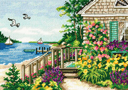 Dimensions Bayside Cottage Cross Stitch Kit
