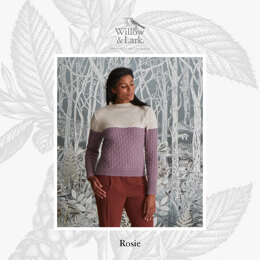 """""""Rosie Fitted Roll Neck"""" - Sweater Knitting Pattern For Women in Willow & Lark Ramble by Willow & Lark"""