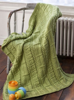 Babes in the Woods Baby Blanket in Caron Simply Soft Collection - Downloadable PDF