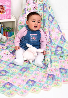 Rainbow Swirl Baby Blanket in Red Heart Soft Baby Multis - LW2579 - Downloadable PDF