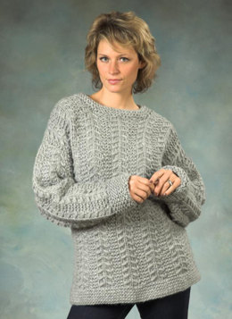 Unixex's Slip Stitch Pullover in Plymouth Yarn De Aire - 2259 - Downloadable PDF