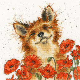 Bothy Threads Poppy Field Cross Stitch Kit