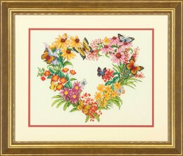 Dimensions Wildflower Wreath Cross Stitch Kit - 35.5cm x 28cm