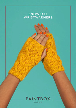 Snowfall Wristwarmers in Paintbox Yarns Simply Aran - Aran-Acc-003 - Downloadable PDF