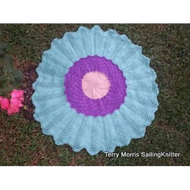 Passion Flower Circular Lace Baby Blanket