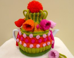 Bell Flowers and bobbles Tea Cosy