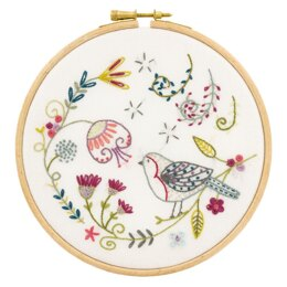 Un Chat Dans L'Aiguille George the Robin Contemporary Embroidery Kit