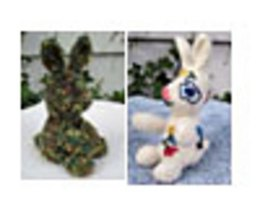 Knitted/Felted Garden Rabbits