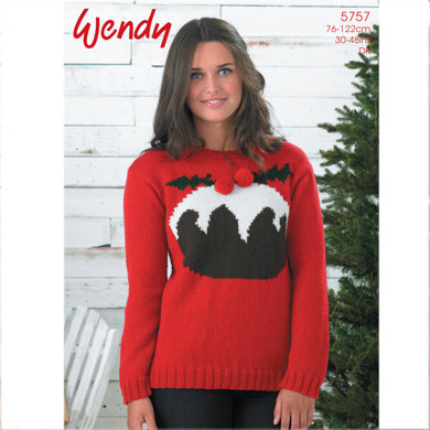 Christmas Pudding Sweater In Wendy Mode Dk 5757 Crochet Patterns