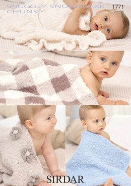 Blankets in Sirdar Snuggly Snowflake Chunky and Snuggly DK - 1771 - Downloadable PDF