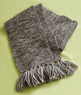 Garter Tweed Scarf in Lion Brand Fishermen's Wool - 80955AD