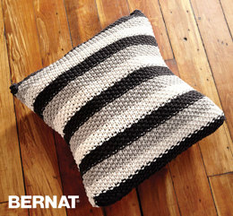 Stepping Stripes Pillow in Bernat Maker Home Dec