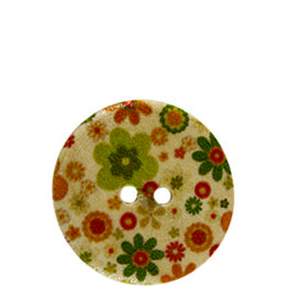 Hippy Flower Wood 20mm 2-Hole Button