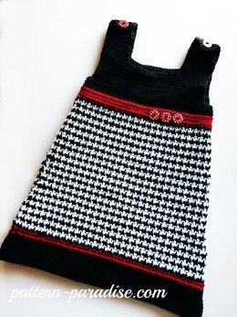 Houndstooth Jumper Dress