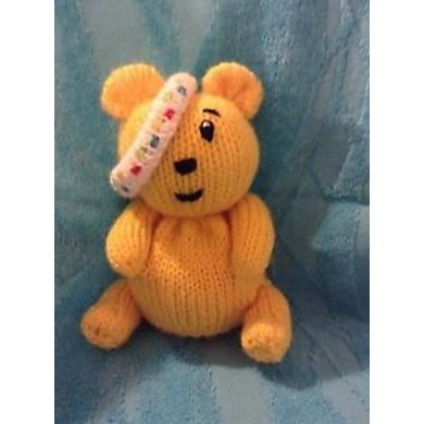 Children in Need Pudsey Choc Orange Cover / Toy Knitting pattern by Andrew Lucas