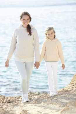 Hooded Sweaters in Sirdar Snuggly Snowflake Chunky - 7049