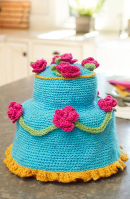 Fancy Cake Cover in Red Heart Celebration - LW3544 - Downloadable PDF