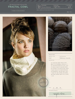 Fractal Cowl in Blue Sky Fibers Extra - 3816 - Downloadable PDF