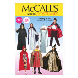 McCall's Misses', Men's and Teen Boys' Cape and Tunic Costumes M7225 - Sewing Pattern