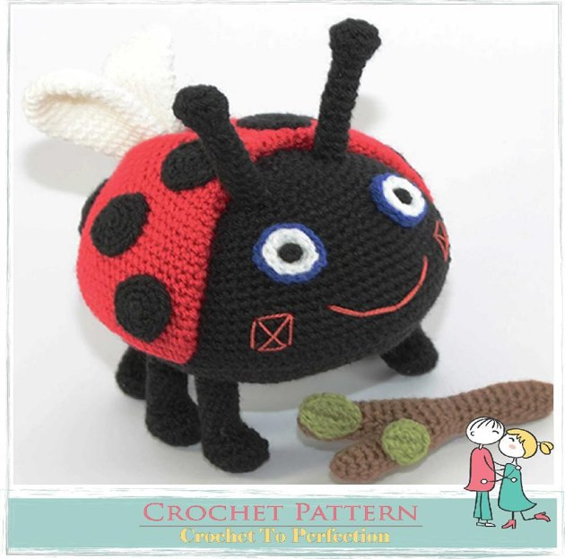Free Crochet Ladybug Blanket Pattern : Gaston Ladybird Crochet, Amigurumi Crochet pattern by ...