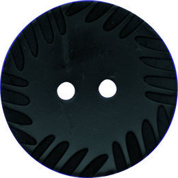 Crimped Edge Coconut 51mm 2-Hole Button