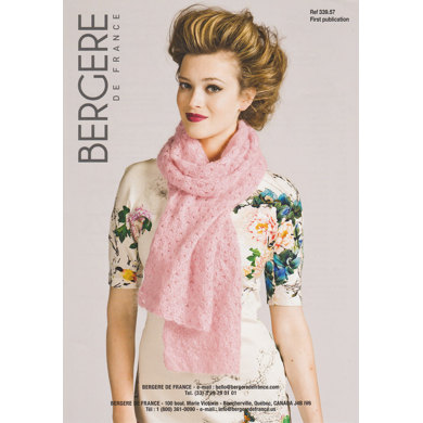 Crochet Scarf in Bergere de France Pure Douceur - 33957