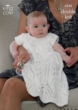 Christening Set in King Cole Comfort DK - 3536