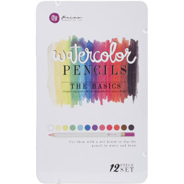 Prima Marketing Watercolor Pencils 12/Pkg - The Basics