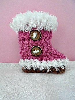 921-Fluff Cuff Baby Booties