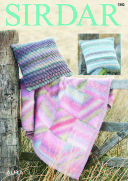 Throw and Cushion Covers in Sirdar Aura - 7882 - Downloadable PDF