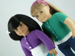 "Classic Cardigan Sweater - 18"" American Girl Doll"
