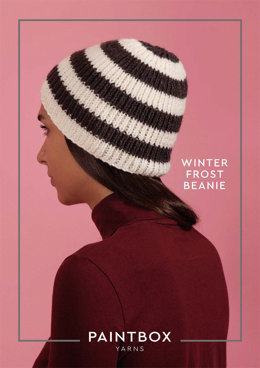 Winter Frost Beanie Knitting Kit in Paintbox Yarns