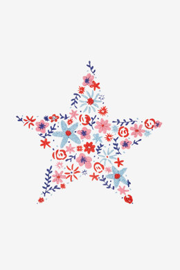 Floral Star in DMC - PAT0789 -  Downloadable PDF