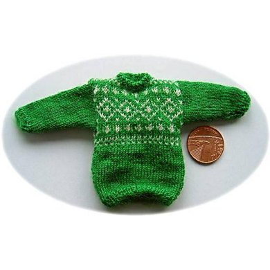 1:12th scale Norwegian style sweater 2