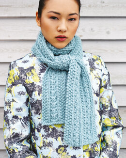 """Scarf"" - Scarf Knitting Pattern For Women in Debbie Bliss Paloma"